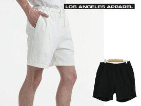 ショートパンツ メンズ ロサンゼルスアパレル Los Angeles Apparel Men's Heavy Jersey Mid Short