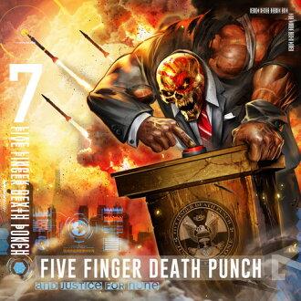 Five Finger Death Punch/And Justice For None(Clean Vesion)(进口盘CD)(大音阶第四音夏娃·手指·死亡·打击)