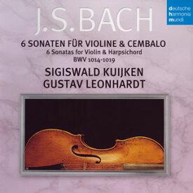 【国内盤CD】J.S.バッハ:ヴァイオリンとチェンバロのためのソナタ集(全曲) S.クイケン(VN)レオンハルト(HC)[2枚組]