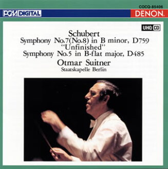 "舒伯特:交響曲第8個""未完成""、第5個Suitner/柏林·shutatsukapere[CD]"
