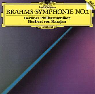 브람스:교향곡 제 1번/Haydn의 주제에 의한 변주곡 카라얀/ BPO[CD]