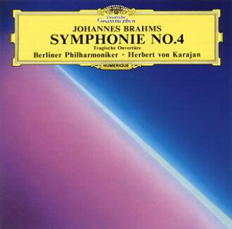 브람스:교향곡 제 4번/비극적 서곡 카라얀/ BPO[CD]
