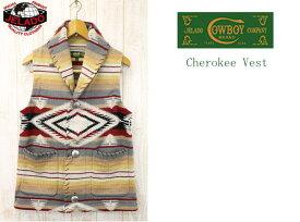 JELADO ジェラード Cherokee Vest チェロキーベスト COWBOY BRAND カウボーイブランド CB03805 ミックスクリーム