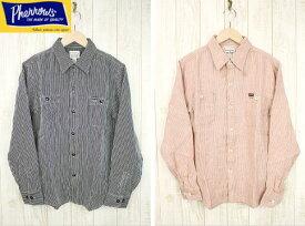 Pherrow's フェローズ リネンストライプワークシャツ 日本製 長袖ワークシャツ 18S-730WS-ST 2color