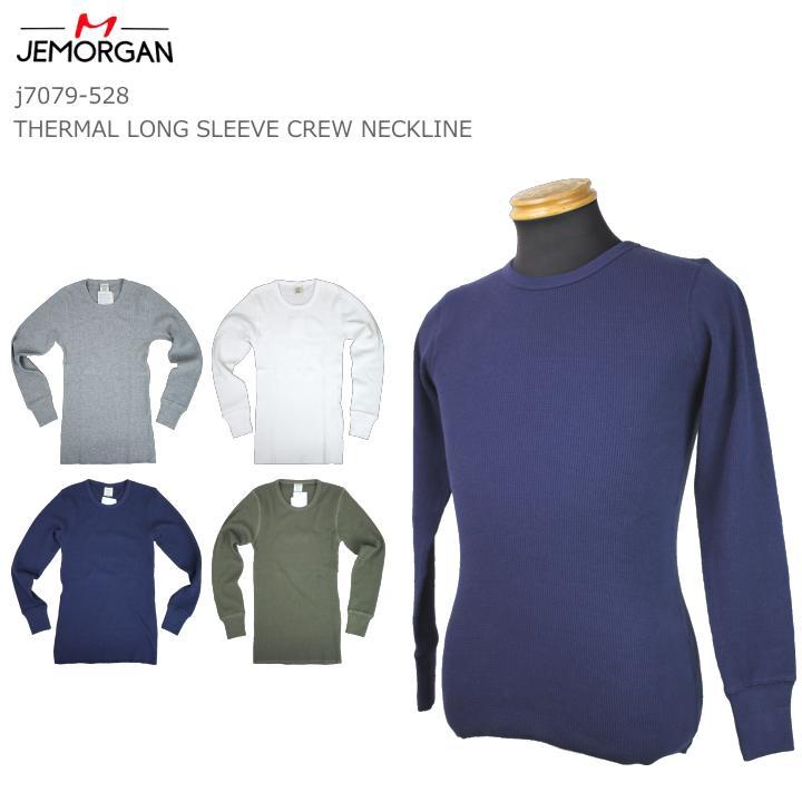 J.E MORGAN J.E モーガン サーマル クルーネック 長袖T J7079-528 暖かい アンダーウェア