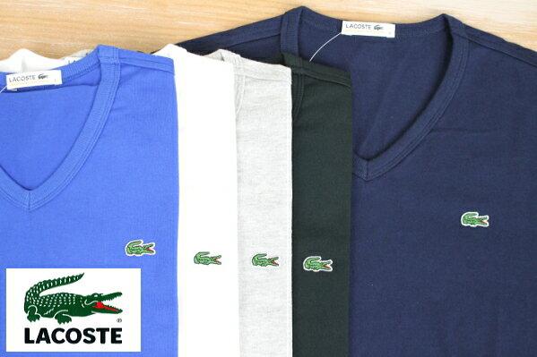 LACOSTE ラコステ LACOSTE 半袖VネックTシャツ -日本製- TH632E 5color 送料無料