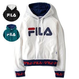 FILA フィラ リブロゴショートプルパーカー FL5635 レディース