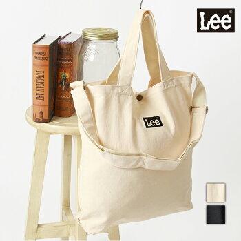 Leeリーキャンバストートバッグショルダーバッグ2WAY厚手刺繍ロゴ男女兼用ユニセックスロゴ0425654