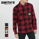 ブラックフライデー SMITH'S AMERICAN スミスアメリカン チェックシャツ シャツ ブロックチェック 長袖 ポケット 配色…
