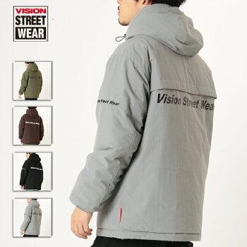VISIONSTREETWEARアウターサーモライト中綿フードトラックジャケットブルゾンジャンパー暖かい保温メンズレディースユニセックス0905002-I