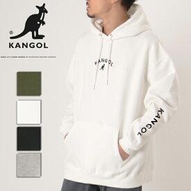 KANGOL カンゴール スウェット パーカー プルオーバー トップス メンズ レディース ユニセックス 刺繍 ロゴ 袖 フーディー C6061N