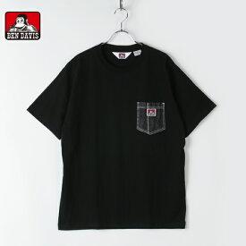 BENDAVIS ベンデイビス メンズ レディース ユニセックス 半袖 Tシャツ ビッグシルエット デニムポケット ピスネーム ゴリラ 0580005