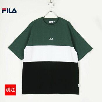 FILAフィラTシャツ半袖メンズレディースユニセックスカラー切替リニアロゴトリコロールカットソー全5色FM5865