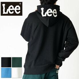 Lee リー 長袖 スウェット パーカー メンズ レディース ユニセックス ビックシルエット ミニロゴ刺繍 フードビックプリント プルオーバー GLT138-1
