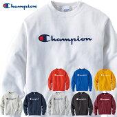 ChampionチャンピオンベーシックロゴプリントトレーナークルーネックC3-Q002メンズ