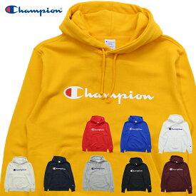 Champion チャンピオン ベーシック ロゴプリント プルパーカー C3-Q102 メンズ