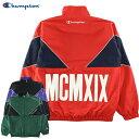 メンズ ナイロン フルジップジャケット Champion チャンピオン キリカエ パイピング C3-Q606-1