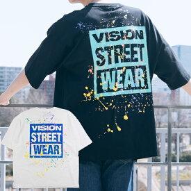 20%OFF VISION STREET WEAR ヴィジョンストリートウェア Tシャツ 半袖 メンズ レディース ユニセックス スポーツ ストリート VS スプラッシュロゴ ビッグT 0523118