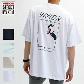 20%OFF VISION STREET WEAR ヴィジョンストリートウェア Tシャツ 半袖 メンズ レディース ユニセックス スポーツ ストリート VS スケートボード イラスト ビッグT ビッグシルエット オーバーサイズ 0523160