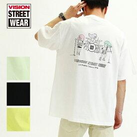 20%OFF VISION STREET WEAR ヴィジョンストリートウェア Tシャツ 半袖 メンズ レディース ユニセックス スポーツ ストリート VS 3ピースバンド イラスト ビッグT ビッグシルエット オーバーサイズ 0523161