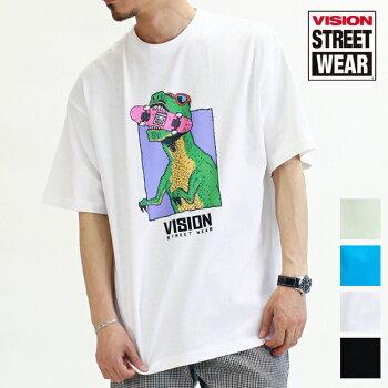 20%OFFVISIONSTREETWEARヴィジョンストリートウェアTシャツ半袖メンズレディースユニセックススポーツストリートVS恐竜イラストスケートボードスケボービッグTビッグシルエットオーバーサイズ0523163