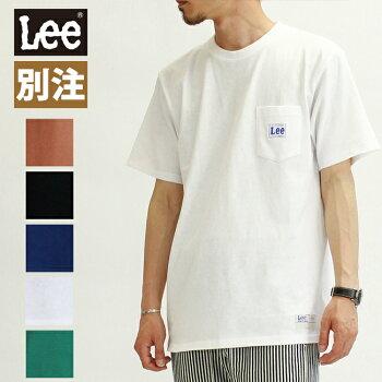 20%OFFLeeリーメンズTシャツ半袖メンズレディースユニセックスピスネームロゴポケットポケTGLT081-1ジーンズショップアメリカ屋別注品番
