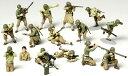 1/48 ミリタリーミニチュアシリーズ No.13 WWII アメリカ歩兵 GIセット プラモデル[タミヤ]《取り寄せ※暫定》