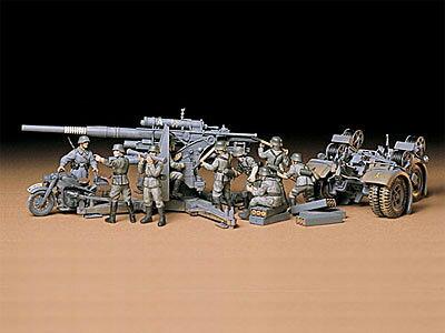 1/35 ミリタリーミニチュアシリーズ No.17 ドイツ 88mm砲 Flak36/37 プラモデル[タミヤ]《取り寄せ※暫定》