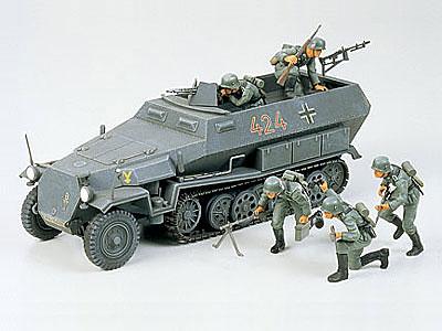 1/35 ミリタリーミニチュアシリーズ No.20 ドイツ ハノマーク兵員輸送車 プラモデル[タミヤ]《取り寄せ※暫定》
