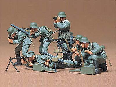 1/35 ミリタリーミニチュアシリーズ No.38 ドイツ歩兵 機関銃チームセット プラモデル[タミヤ]《取り寄せ※暫定》
