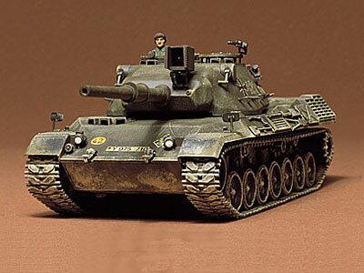 1/35 ミリタリーミニチュアシリーズ No.64 西ドイツ レオパルド中戦車 プラモデル[タミヤ]《取り寄せ※暫定》