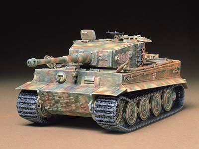 1/35 ミリタリーミニチュアシリーズ No.146 ドイツ重戦車 タイガーI型 (後期生産型) プラモデル[タミヤ]《取り寄せ※暫定》