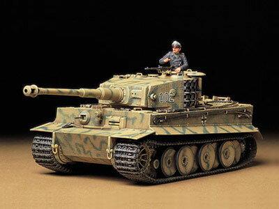 1/35 ミリタリーミニチュアシリーズ No.194 ドイツ重戦車 タイガーI型 中期生産型 プラモデル[タミヤ]《取り寄せ※暫定》