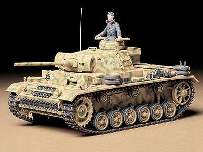 1/35 ミリタリーミニチュアシリーズ No.215 ドイツ III号戦車L型 プラモデル[タミヤ]《取り寄せ※暫定》