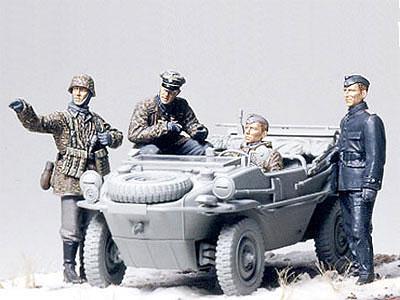 1/35 ミリタリーミニチュアシリーズ No.253 ドイツ戦車部隊 前線偵察チーム プラモデル[タミヤ]《取り寄せ※暫定》