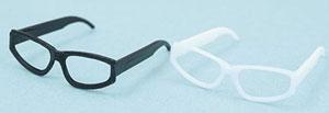 マテリアルパーツ メガネセットII 黒・白 各1個セット(ドール用小物)[アゾン]《発売済・在庫品》