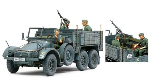 1/35 ミリタリーミニチュアシリーズ No.317 ドイツ クルップ プロッツェ Kfz.70 兵員輸送型 プラモデル[タミヤ]《取り寄せ※暫定》