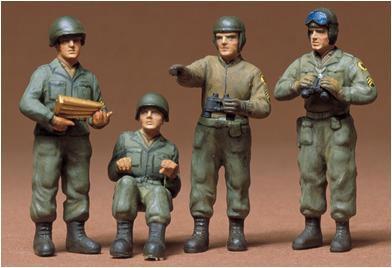 1/35 ミリタリーミニチュアシリーズ No.4 アメリカ戦車兵セット プラモデル(再販)[タミヤ]《02月予約》