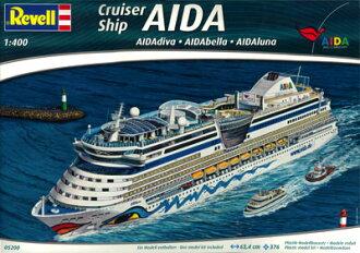 1/400 Cruise Ship AIDA (diva'bella'luna) Plastic Model