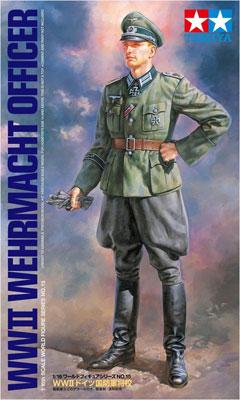 1/16 ワールドフィギュアシリーズ No.15 WW II ドイツ国防軍将校 プラモデル[タミヤ]《取り寄せ※暫定》