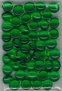 タブレット(おはじき型カウンター) 50ヶ グリーン[ニシノ]《発売済・在庫品》