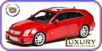 LUXURY Resin Model Car 1/43 Cadillac CTS-V Wagon 2011 (Crystal Red)