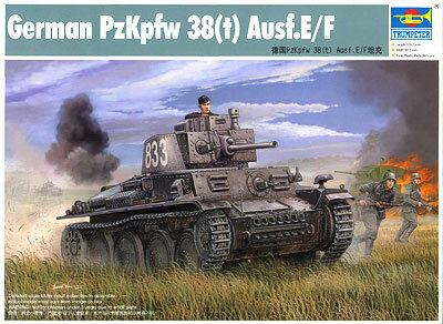 1/35 ドイツ軍 プラガ38(t)軽戦車 E/F型 プラモデル(再販)[トランペッターモデル]《10月予約※暫定》
