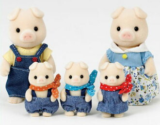 Sylvanian Families - Pig Family(Back-order)(シルバニアファミリー ブタファミリー)
