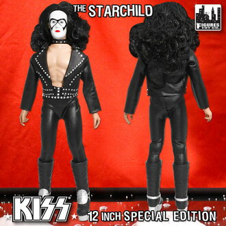KISS Retro 12 Inch Action Figure Series 2 The StarChild (Bandit Mask Edition)(Back-order)
