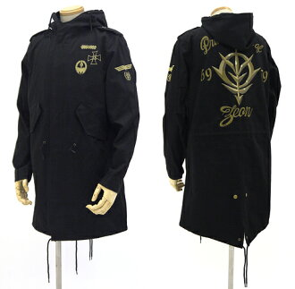 Mobile Suit Gundam - ZEON Embroidered M51 Jacket/ BLACK - L