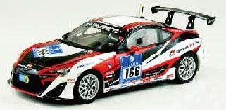 1/43 TOYOTA 86 Nurburgring 24-hour Race 2012 No.166 ホワイト/ブラック[EBBRO]《取り寄せ※暫定》