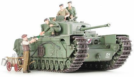 1/35 ミリタリーミニチュアシリーズ No.210 イギリス歩兵戦車 チャーチルMk.VII プラモデル(再販)[タミヤ]《取り寄せ※暫定》
