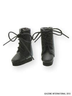 ピコニーモウェア 1/12 レースアップショートブーツ ブラック(ドール用小物)(Picco Neemo Wear 1/12 Lace Up Short Boots Black (DOLL ACCESSORY)(Released))