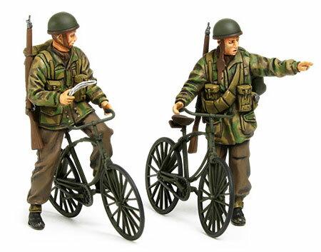 1/35 ミリタリーミニチュアシリーズ No.333 イギリス軍空挺兵自転車セット プラモデル[タミヤ]《取り寄せ※暫定》